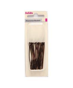 Braune Haarklemme (Inhalt: 20 Stück)