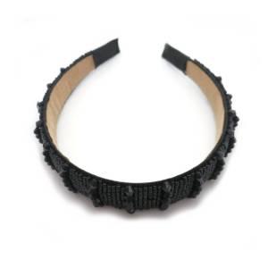 Haarreifen mit schwarzen Steinen