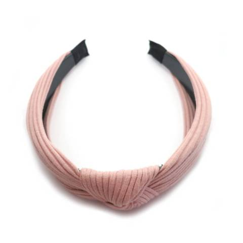 Haarreifen Stoff mit Knoten rose