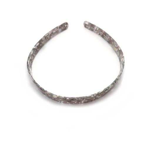 Haarreifen marmoriert grau