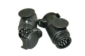 Kortadapter 13-polig DIN–>13-polig WEST verpakt