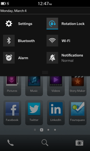 How To Enable The Rotation Lock Feature On The BlackBerry Z10