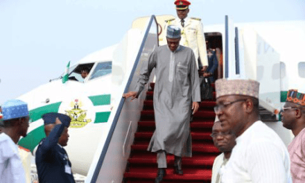 PRESIDENT MUHAMMADU BUHARI RETURNS TO NIGERIA. (PHOTOS)