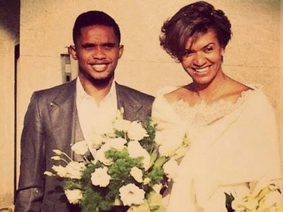 Samuel Eto and wife