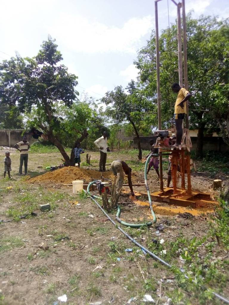 Borehole drilling at Joga Aiyetoro