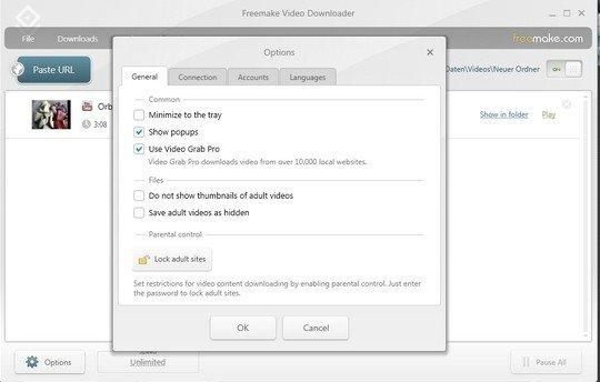 Freemake-video-downloader: options