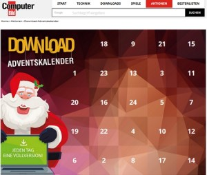 Advent Calendar Software Giveaways