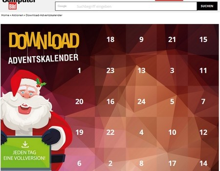 Advent Calendar Software Giveaways