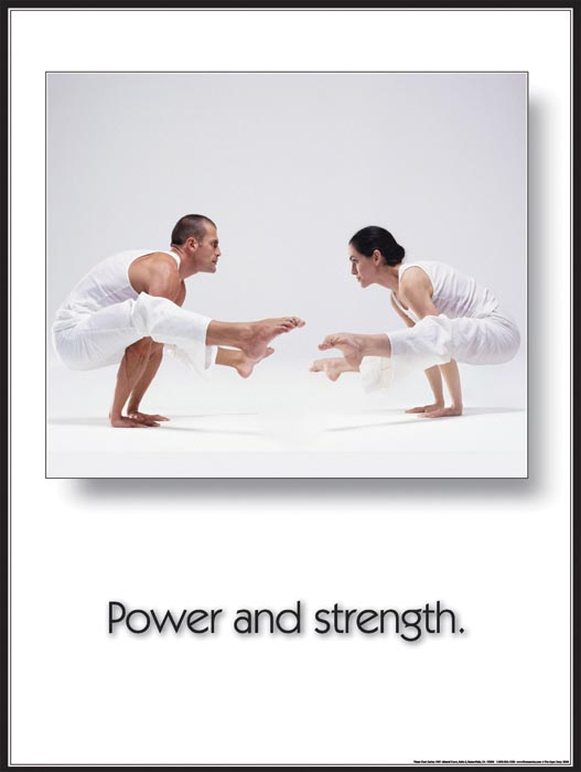 Yoga Inspirational Poster: Power and Strength