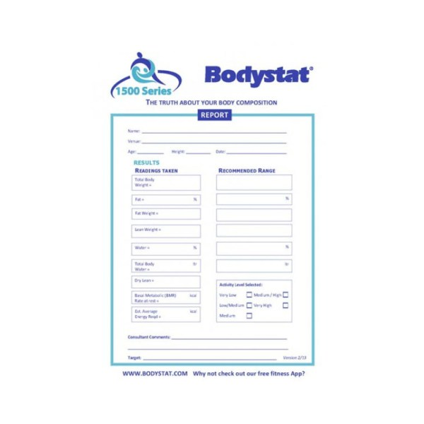 Bodystat Report Pad