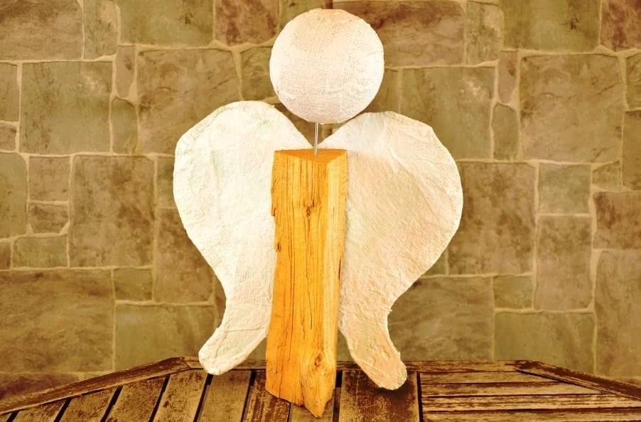 Holzscheit Engel Selber Basteln Habe Ich Selbstgemacht
