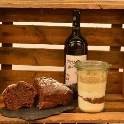 Glühwein Lebkuchen Kuchen als Backmischung im Glas