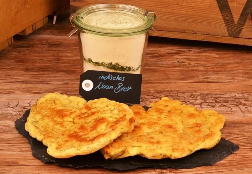 Indisches Naan Brot als Backmischung im Glas