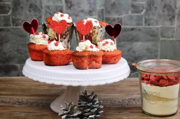 Cupcakes für den Valentinstag