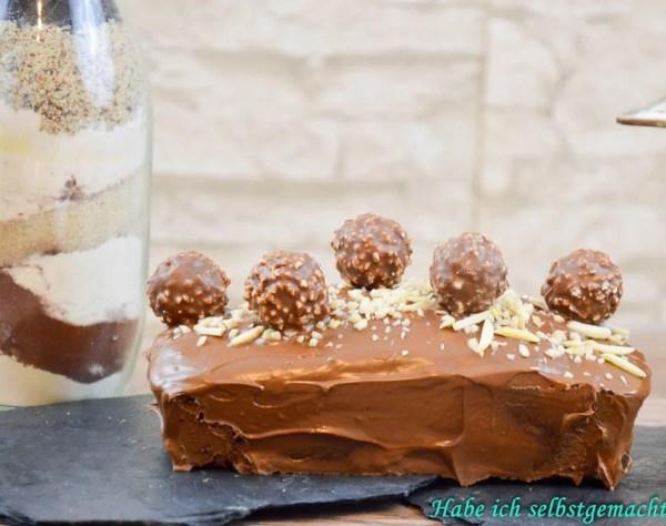 Backmischung Rocher Kuchen