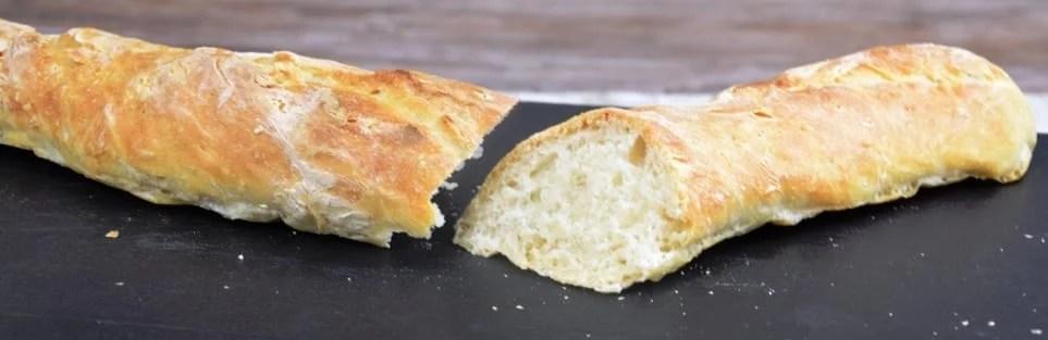 selbst gebackenes Baguette