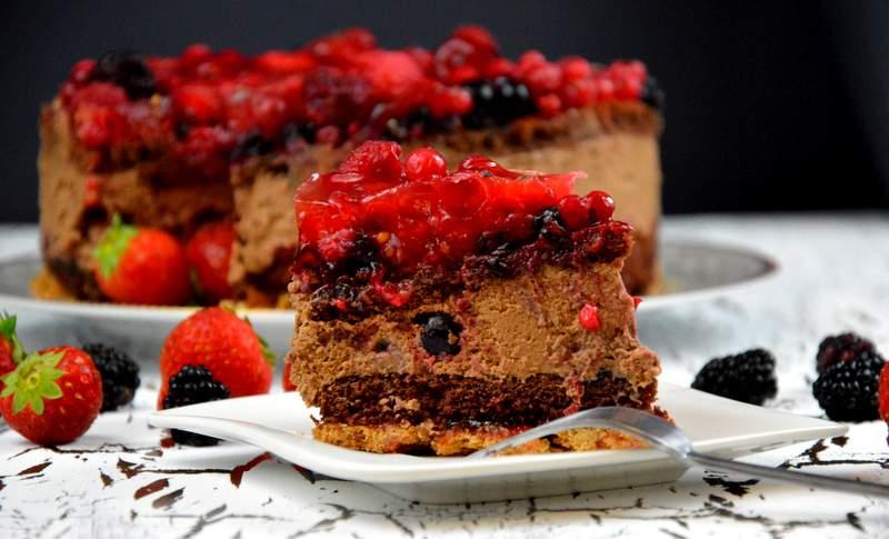 Schokoladen Beeren Torte
