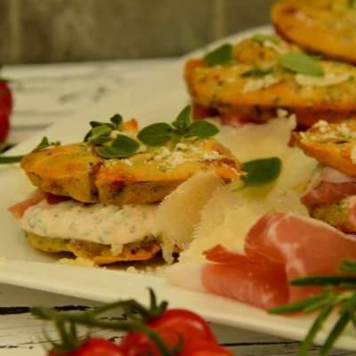 Italienische Kräuter Whoopies mit Parmesan und Parmaschinken