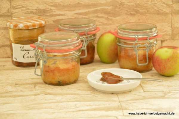 Apfel Karamell Kuchen im Glas