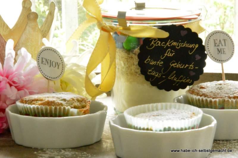 Backmischung Im Glas Für Geburtstagsmuffins