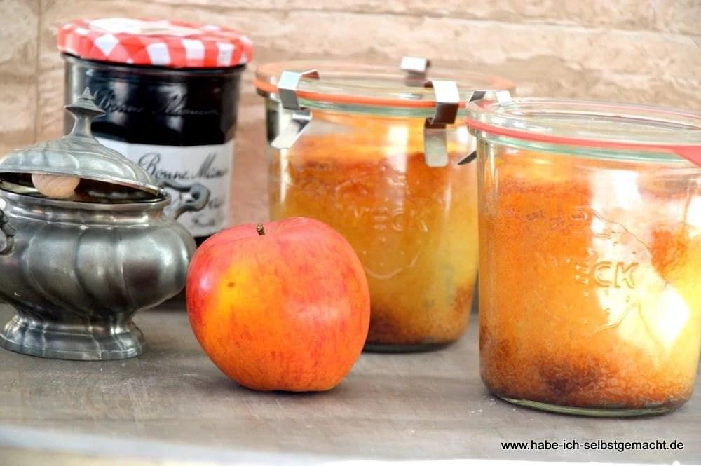 Bratapfel Kuchen im Glas