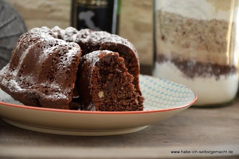 Rotwein Schokoladen Kuchen Backmischung