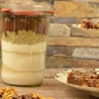 Schokoladen Apfel Walnuss Brownies Backmischung