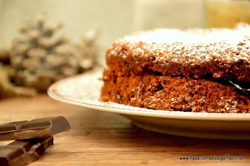 Backmischung für Schokoladen Haselnuss Kuchen
