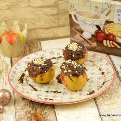 Bratapfel mit Schokoladen Glühwein Kuchen