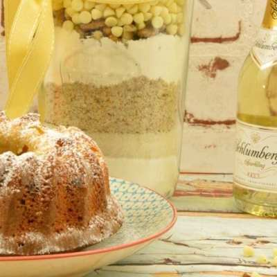 Backmischung im Glas selber machen – Prosecco Mandarinen Kuchen