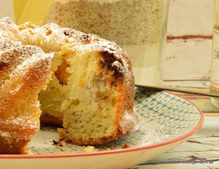 Champagner Mandarinen Walnuss Schoko Kuchen