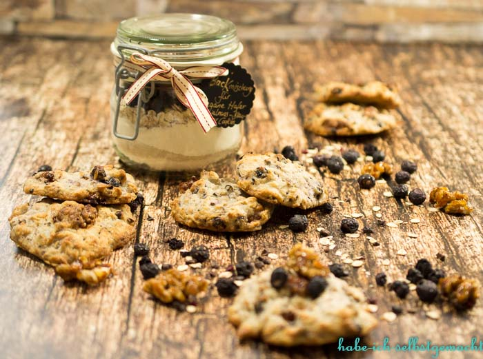BM vegane Blaubeer Walnuss Cookies