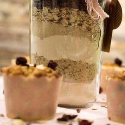 Vegane Kirsch Erdnuss Muffins Backmischung
