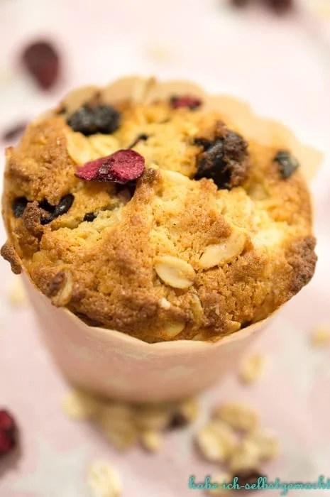 vegane Sauerkirsch Erdnuss Muffins