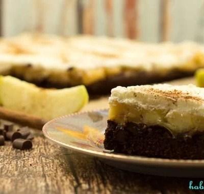 Brownie Apfelkuchen vom Blech