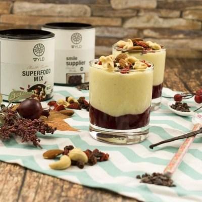 Schnelles Vanille Kirsch Dessert