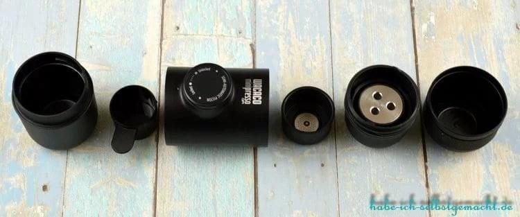Wacaco minipresso Portable Espresso Machine - Einzelteile