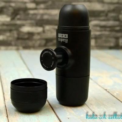 Test der mobilen Espressomaschine Wacaco minipresso GR