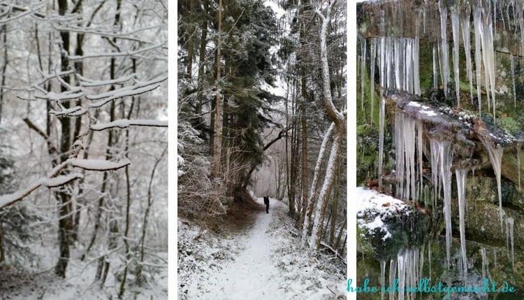 Winterwandern Goldsteig - Erster Tag von Passau nach Ruderting