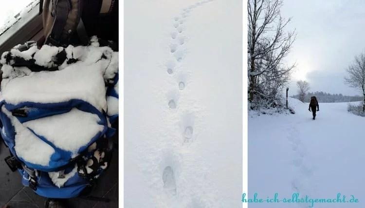 Winterwandern Goldsteig - Es hat geschneit