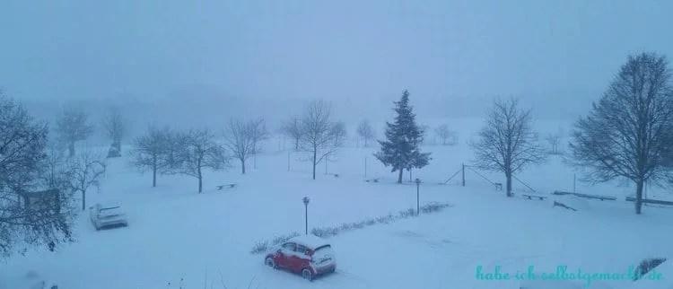 Winterwandern Goldsteig - Verschneiter Morgen