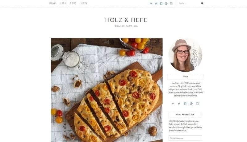Screenshot Holz und Hefe