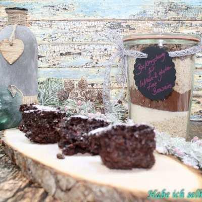 Schokoladige Weihnachtsbrownies – Backmischung