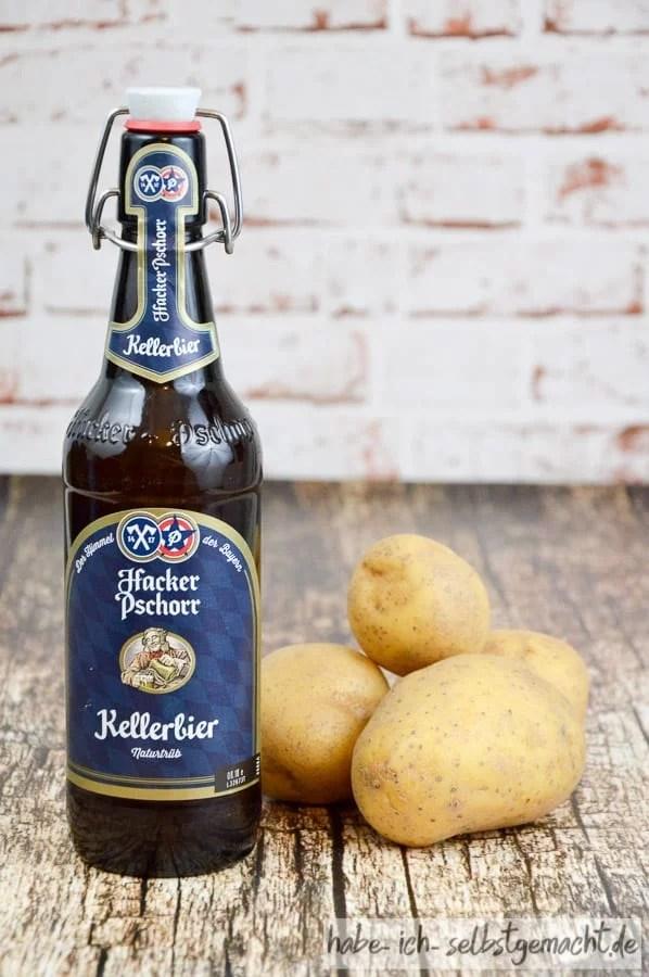 Brot selber backen - Zutaten für Kartoffel Bier Brot - Bier und Kartoffeln