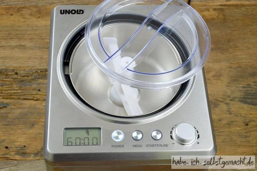 Test Unold Eismaschine Profi - Alles wirkt sehr robust und hochwertig