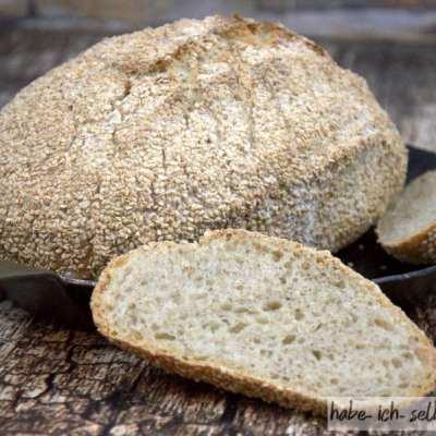 Brot #5 Weizenbrot mit Sesam (Sesambrot)