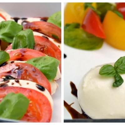 Tomate-Mozzarella in 2 verschiedenen Varianten