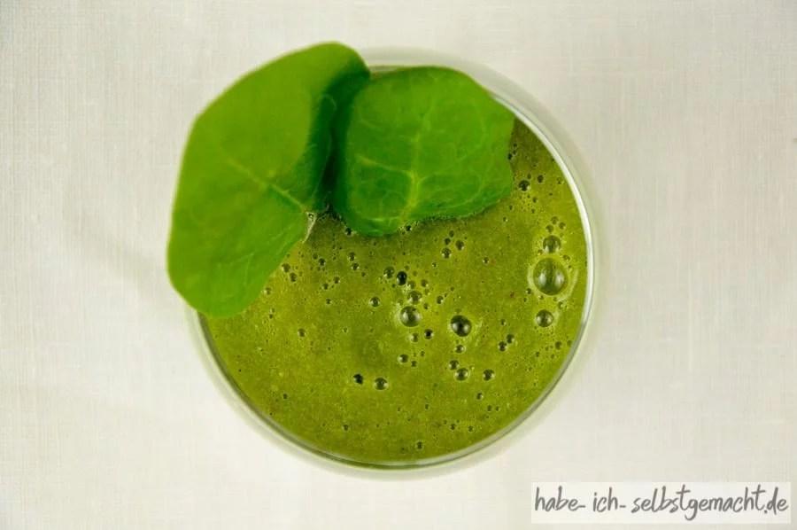 Fein pürierter Grüner Smoothie