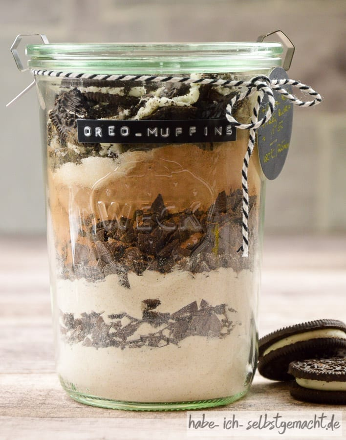 Oreo Muffins als Backmischung im Glas