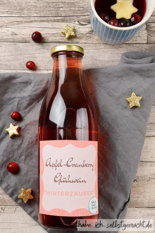Glühwein als Geschenkidee aus der Küche